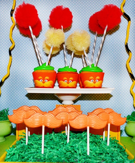 Dr. Seuss' the Lorax Inspired Cupcake Wrappers